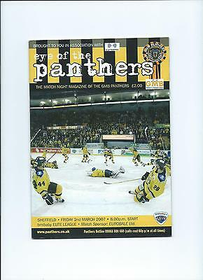 06/07  Nottingham Panthers  V Sheffield Steelers EIHL March 2nd