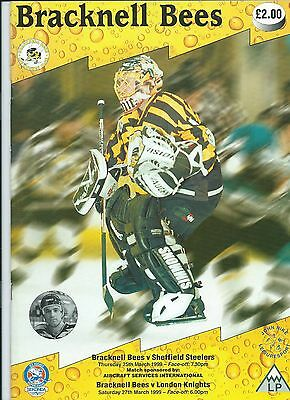 98/99 Bracknell Bees v London Knights/Sheffield Steelers March