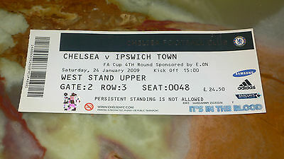 Ticket 2008/09 FA Cup - CHELSEA v. IPSWICH TOWN