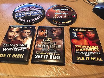 Lot of 5 collectible boxing pin badges