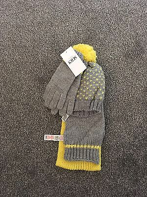Kids M&S Hat, Scarf And Gloves Set