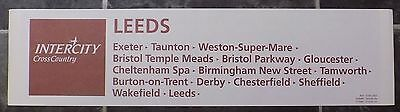 Intercity Cross Country Carriage Window Destination Label - Plymouth-Leeds