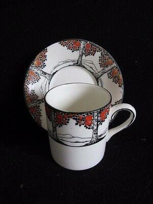 Crown Ducal Orange Tree coffee can and saucer