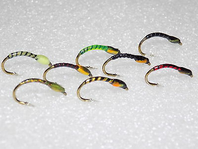 Buzzers Flies 8 New Assorted Patterns Tied On Size 10 Hooks **