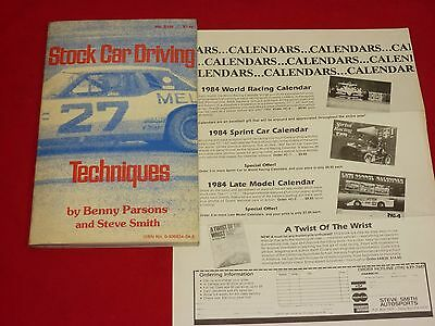 Stock Car Driving Techniques By Benny Parsons and Steve Smith 1980 Paperback Ed