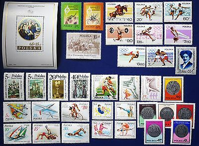 Poland - 1967-1986 Collection of MNH sets