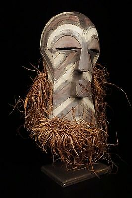 Discover African Art : Songye Kifwebe Mask from DRC with Custom Mount
