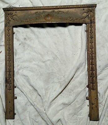 Reclaimed Vintage Antique Victorian Cast Iron Fireplace Surround. Shell Motif