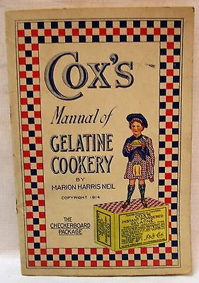 Vintage 1914  Cox's Manual Of Gelatine Cookery - Marion Francis Neil