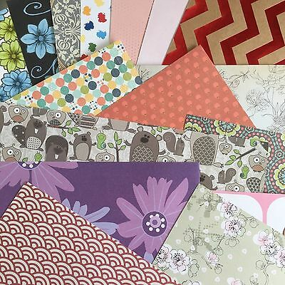 """SCRAPBOOKING PAPER - MIXED PACK of PATTERND 12 x 12"""" PAPERS"""