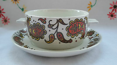 Retro Midwinter Baroque Soup Dish and Saucer design by Jessie Tait