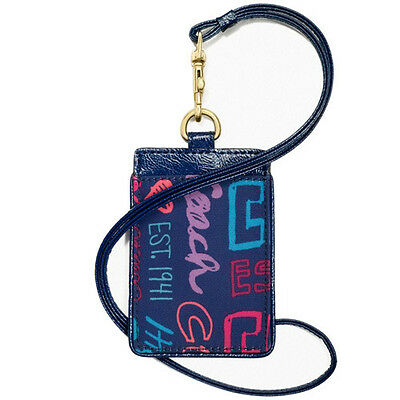 NWT Coach  Daisy Patch Lanyard ID Case in Multicolor F 62328