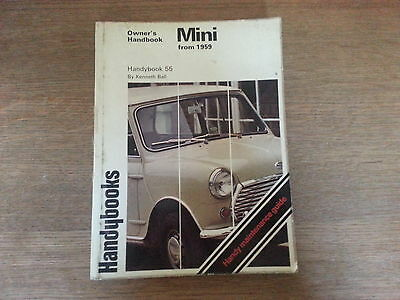 Owners Handbook For Mini From 1959-69/71 Includes Maintenance Guide