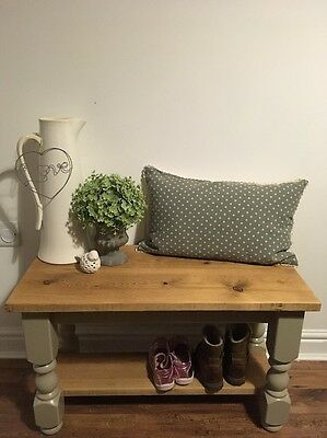 Country Style Shabby Chic Rustic Wooden Bench / Table  #1012