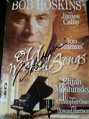 """BOB HOSKINS SIGNED OLD WICKED SONGS LONDON THEATRE POSTER 12 1/2"""" x 20"""""""
