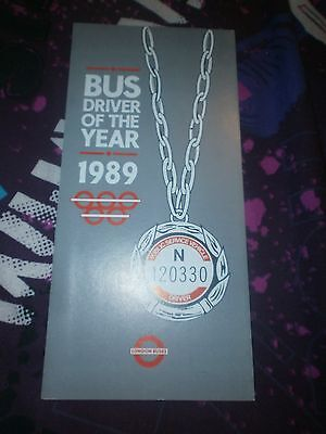 London Transport Leaflet-Bus Driver Of The Year Application 1989
