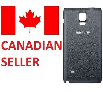 Genuine Samsung Galaxy Note 4 Back Cover (Black) Replacement Part **FREE SHIP**