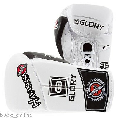 Hayabusa Glory Pro Kickboxing 8oz Lace Leather Boxing Gloves Sparring MMA Thai