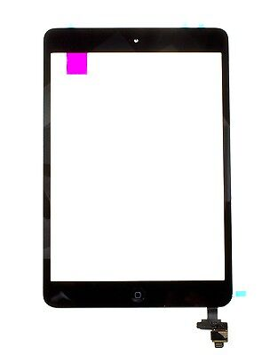 For iPad Mini 1/ 2 A1489 A1432 Touch Screen Glass Digitizer IC Home Button Black