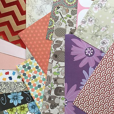"""SCRAPBOOKING PAPER - MIXED PACK of PLAIN & PATTERNED 12 x 12"""" PAPERS"""
