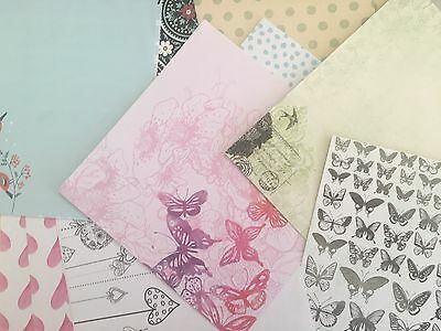 """SCRAPBOOKING PAPER - MIXED PACK of PATTERND & PLAIN 6 x 6"""" PAPERS"""