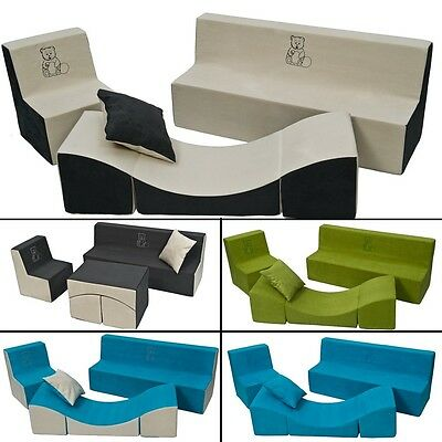 Soft Foam Furniture Embroidery Set:Chair+Sofa+Coach for Children Comfy, Relax, P