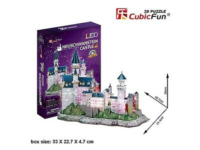 Cubic Fun 3D Building Puzzle - Neuschwanstein Castle With LED Lighting