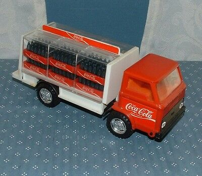 Htf Coca Cola Plastic Friction Delivery Truck - Km (Hong Kong) - 1980's - Coke