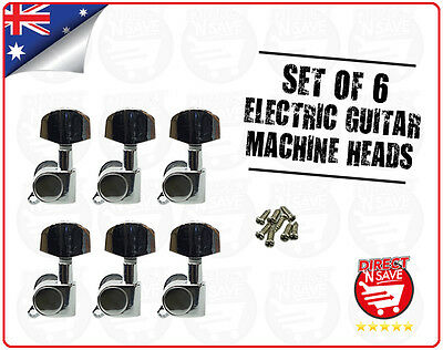 Guitar Machine Head Tuning Pegs 3 Left 3 Right Electric Guitar Set Of 6 NEW
