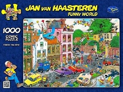 Jan Van Haasteren 1,000 Piece Jigsaw Puzzle - Friday The 13th - SALE!