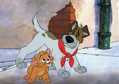 OLIVER & DODGER Disney Limited Edition Animation Cel of 50 OLIVER AND COMPANY &