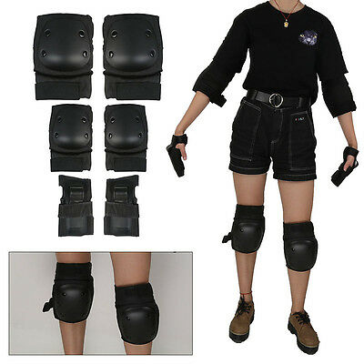 Skating Skateboard Roller Knee Elbow Wrist Pads Riding Protective Gear Guard New