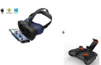 3D VR Virtual Reality Movie Game Glasses Universal bluetooth remote Mobile phone