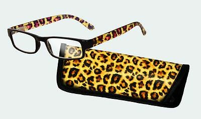 Spoontiques Reading Glasses w/  Matching Case Leopard