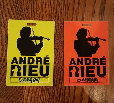 Andre Rieu concert credential
