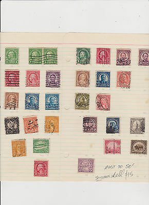 US usa old 1922 PART SET 30 STAMPS FOR $12