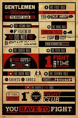 Fight Club Rules - Infographic - Movie Poster #0E