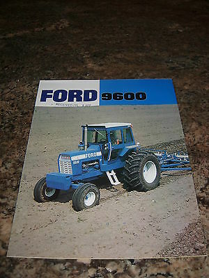 Ford 9600 Tractor Color Sales Brochure Vintage 1975