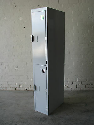 2 Door Metal Locker Cabinet Storage - Light Grey
