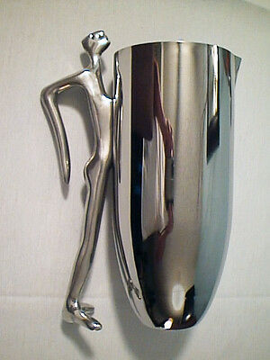 Carrol Boyes 1998 Africa Standing Figure 11 In. Steel Table Service Pitcher Ex