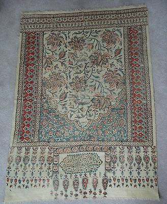 Antique Persian Table Linen Runner Stamp Made In Persia Victorian
