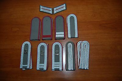 Post WW2 Group of East German Stasi Shoulder Boards & collar tabs (Collection)