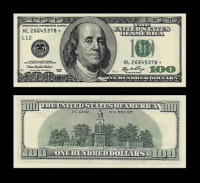 Usa 100 Dollars 2006 * * Star Note * *  Replacement * * Scarce * *  Choice Unc