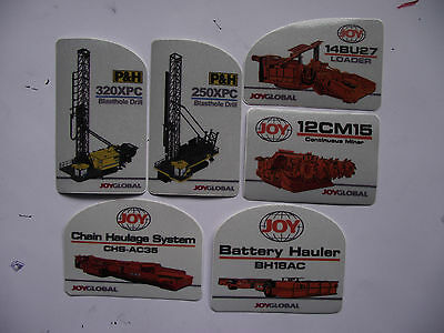 6 Mixed Joy Mining Stickers, in mint condition.