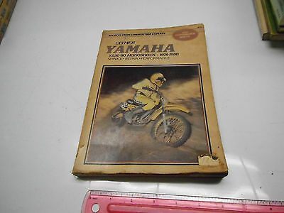 Clymer Repair Manual Yamaha YZ50-80 Monoshock 1978-1986 M393