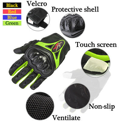 Summer Motorcycle Motorbike Racing Gloves Armoured Hard Knuckle Extra Protection
