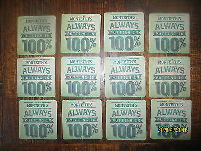 12 MONTEITH BEER Brewery, NEW ZEALAND CIDER collectable COASTERS