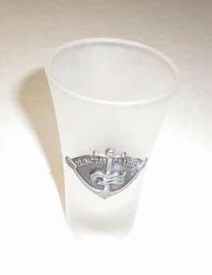 Souvenir Frosted tapered Shot Glass Princess Cruises with Anchor and Waves logo