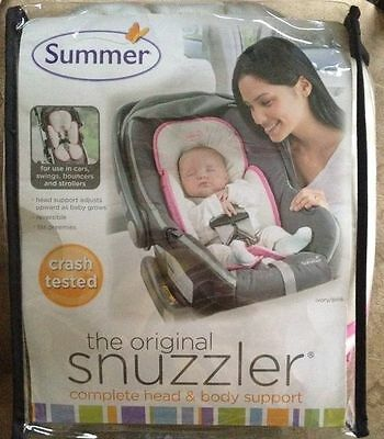 Summer Infant Snuzzler PINK, for car seats, strollers, swings, etc. EUC!