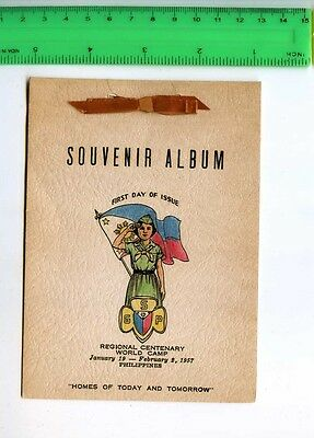 241890 PHILIPPINES 1957 year album first day stamp girl SCOUT